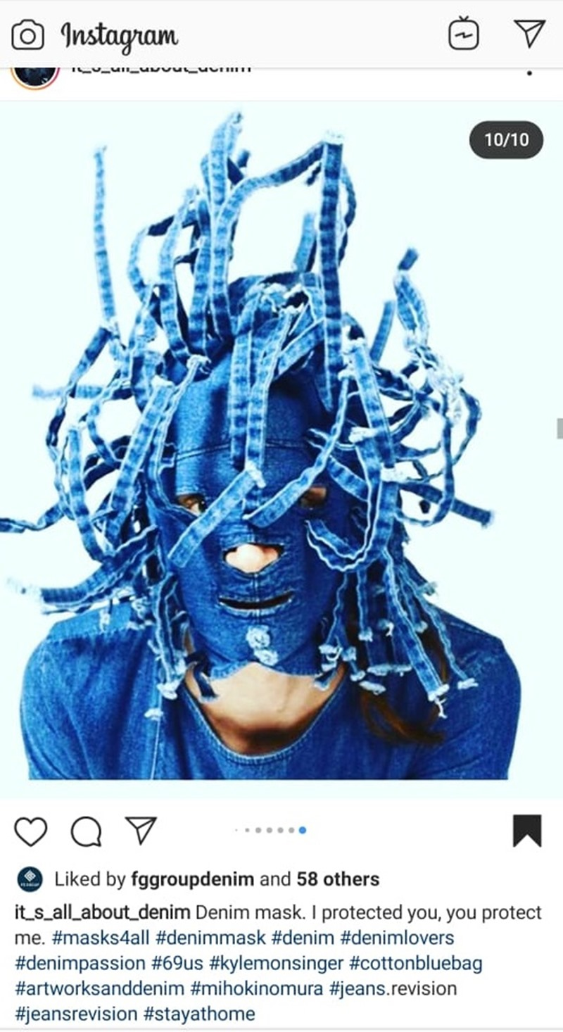 Designer Denim Masks Display Creativity | Denimsandjeans