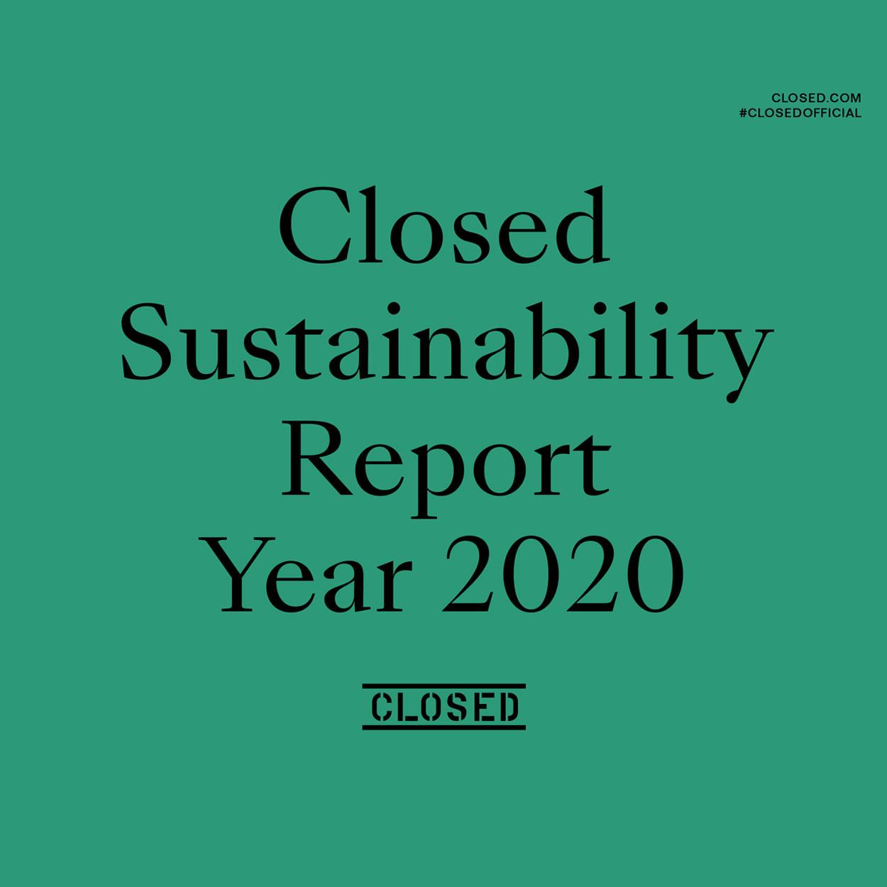 Closed Sustainability Report